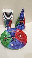 Набор детской бумажной посуды Герои в масках