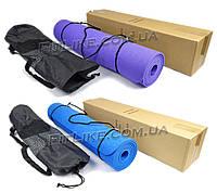 Коврик (мат) TPE 6 мм Premium Design для фитнеса, йоги, пилатеса 183/61 см (килимок) + чехол