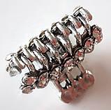 Крабик для волос маленький металлический 2х1,5 см, серебристый, фото 3