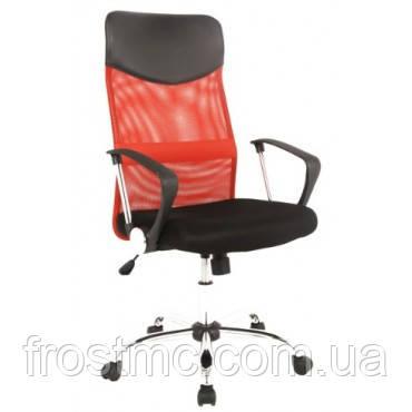 Кресло офисное Q-025 черно красное