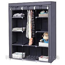 Складной тканевый шкаф Storage Wardrobe на 3 секции органайзер для одежды, фото 2