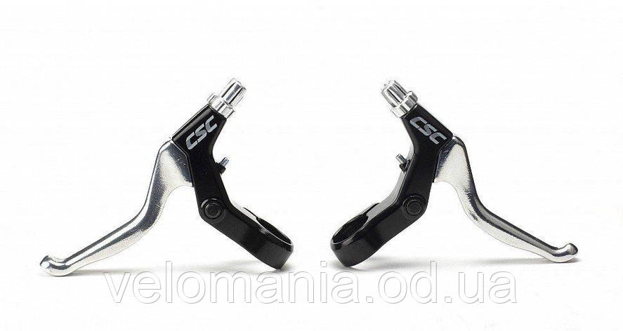 Тормозные ручки CSC BL-42, черный-серебристый, фото 2