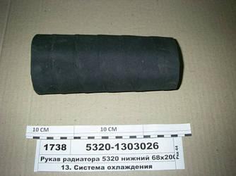 Рукав радиатора 5320 нижний 68х200 (Волжский) 5320-1303026