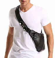 Сумка cross Body эко кожа Чёрная | Мужская сумка через плечо
