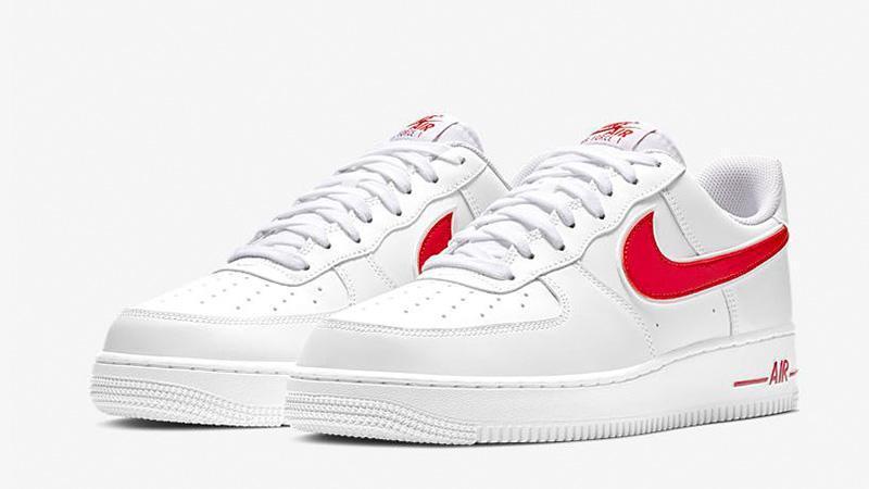 Женские кроссовки в стиле Air Force 1 Low  White Red