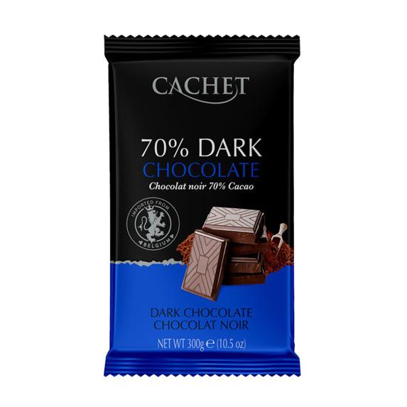 Cachet 300г, №45, чорний шоколад 70%, (12шт)
