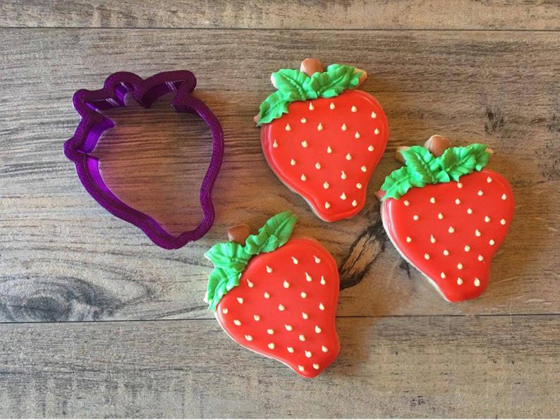 3D формочка для печенья - Клубника | Вырубка для печенья на заказ