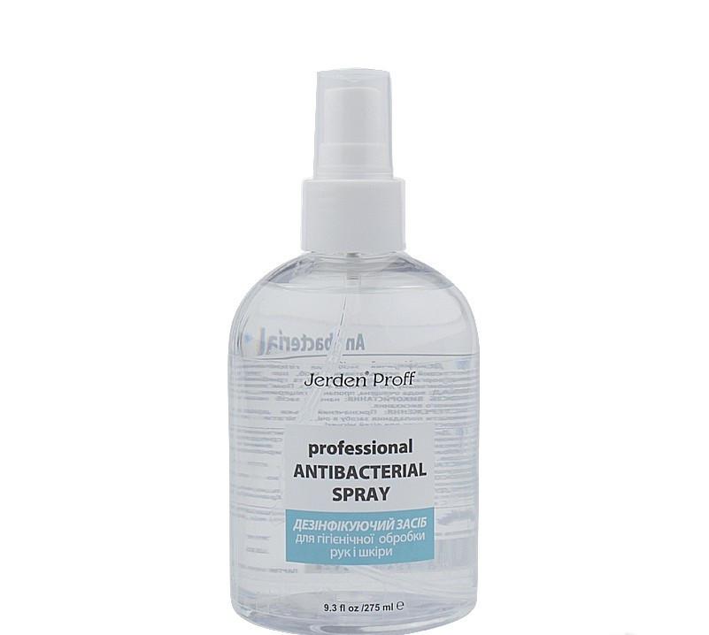 Спрей антисептик, дезінфектор, санитайзер, 60% спирт для шкіри рук Jerden Proff, 275 мл
