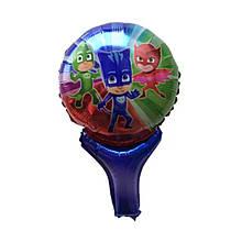 Фольгированный шар погремушка герои в масках