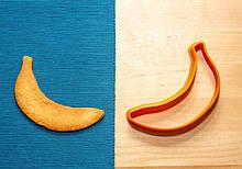 3D формочка для печива - Банан | Вирубка для печива на замовлення