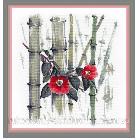 Набір для вишивки хрестом ТМ Овен Камелії у бамбуковому гаю 1268о