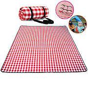 Водонепроницаемый с подкладкой коврик для пикника в Классическом клетчатом узоре 150x200 см.