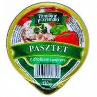 Куриный паштет с паприкой, 130 гр.- Familijne Przysmaki Z Drobiem i Papryka