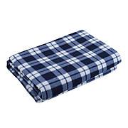 Водонепроницаемый с подкладкой коврик для пикника в Классическом клетчатом узоре 150x200 см. Синий