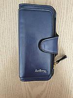 Женский кошелек клатч портмоне Baeller Forever синий блестящий, фото 1