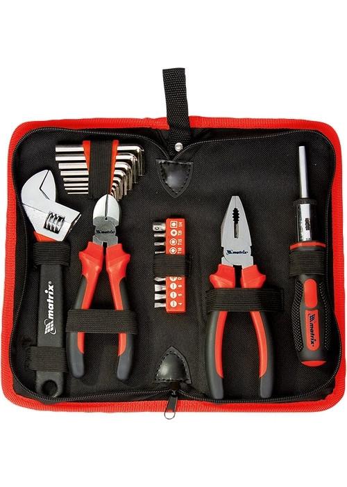 Набор инструментов, слесарно-монтажный 22 предмета MTX 135619