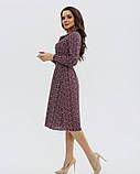 Цветочное платье-рубашка с длинными рукавами, фото 2