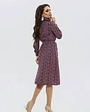 Цветочное платье-рубашка с длинными рукавами, фото 3
