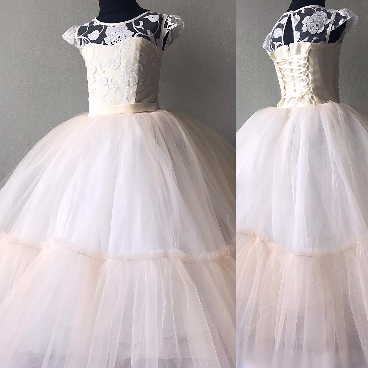 Детское Нарядное платье бежевого оттенка размер 36