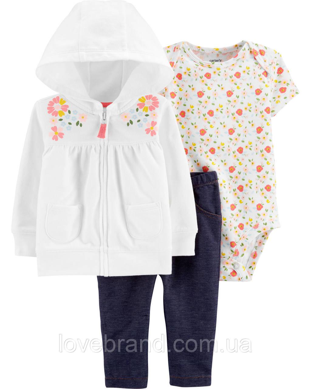 Детский костюм Carter's для новорожденной девочки белый