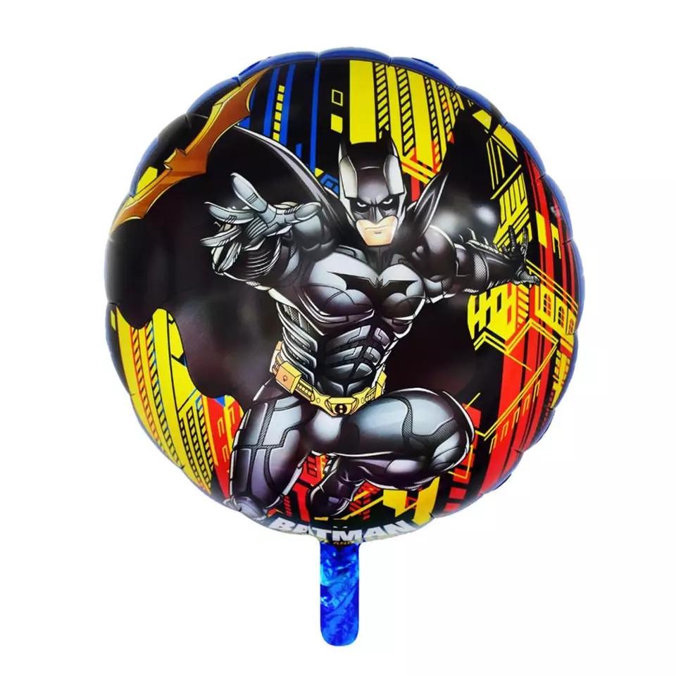 Фольгированный круглый шар бэтмен 45 см