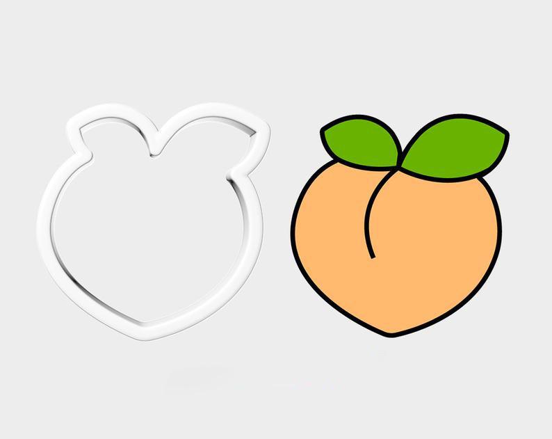 3D формочка для печенья - Персик | Вырубка для печенья на заказ