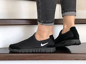 Женские кроссовки летние Nike Free Run 3.0,черные, фото 3