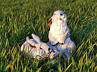 Садовая фигура Семья зайцев.декоративная садовая фигура.