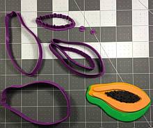 3D формочка для печива - Папайя | Вирубка для печива на замовлення