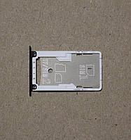 Держатель sim card tray holder слот сим лоток Xiaomi Redmi 4X Black original