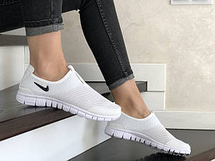 Женские кроссовки летние Nike Free Run 3.0,белые, фото 2