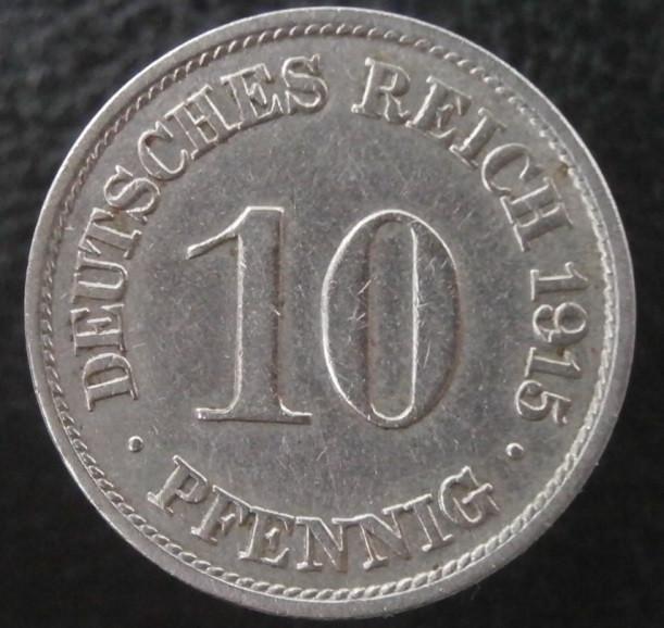 """10 пфеннигов 1915 года """"А"""""""