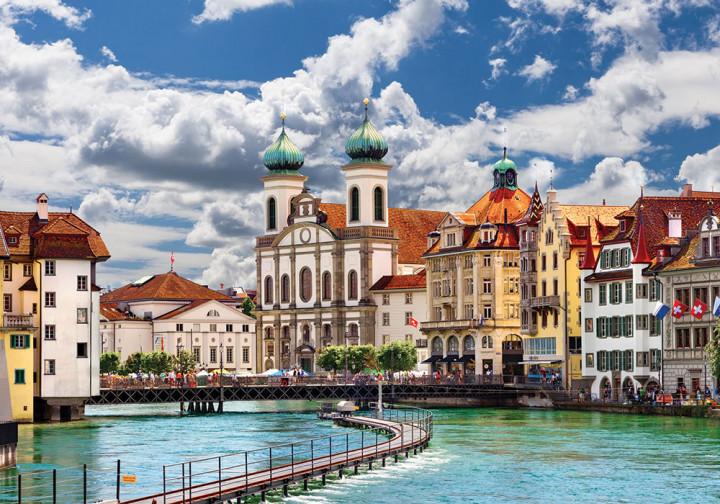 Пазлы на 1000 элементов Jesuit Church Lucerne Switzerland DankoToys С1000-10-04