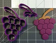 3D вирубка для печива - Виноград #2 | Вирубка для печива на замовлення