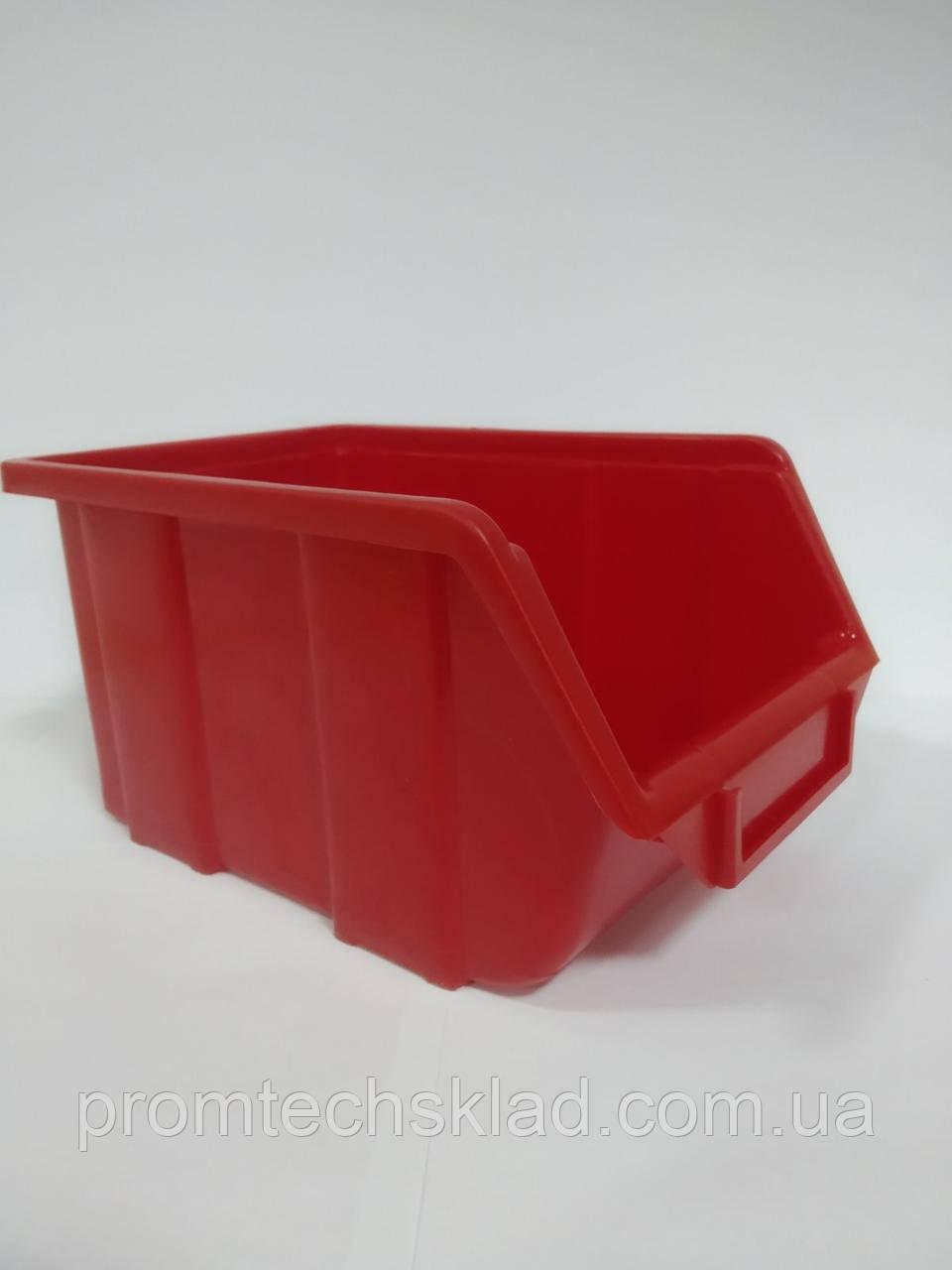 Ящик 701 для метизів червоний ЛТ 245х160х125 мм