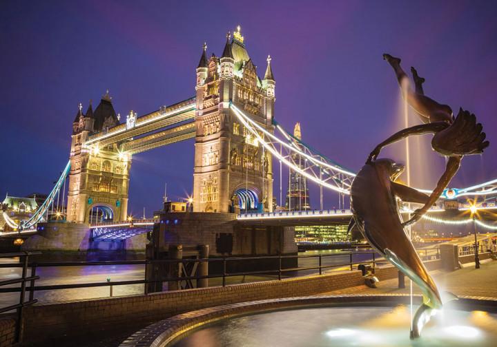 Пазлы на 1000 элементов Tower Bridge At Night London DankoToys С1000-10-01