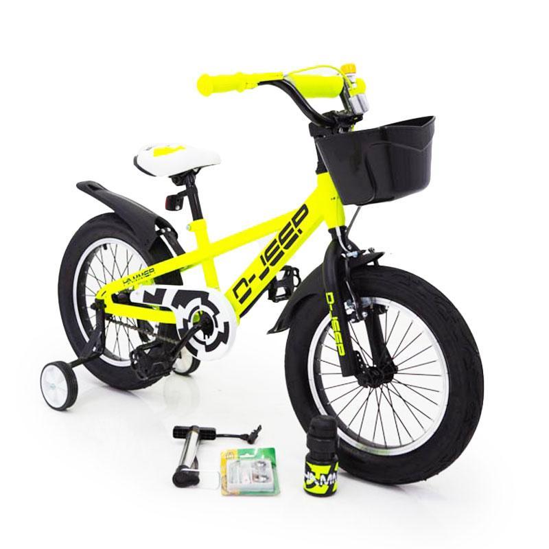 D-JEEP 16 дюймів Дитячий велосипед на широких колесах ( підлозі фет-байк) від 5 років салатовий Збірка 85%