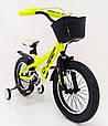 D-JEEP 16 дюймів Дитячий велосипед на широких колесах ( підлозі фет-байк) від 5 років салатовий Збірка 85%, фото 4