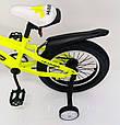 D-JEEP 16 дюймів Дитячий велосипед на широких колесах ( підлозі фет-байк) від 5 років салатовий Збірка 85%, фото 5