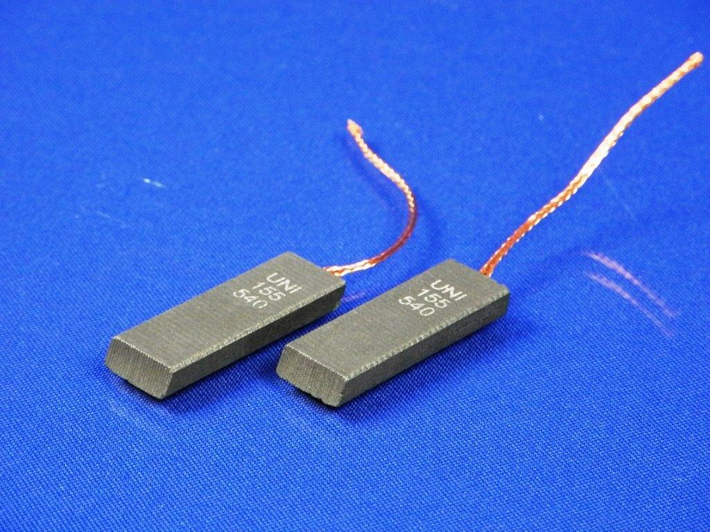 Щетки электродвигателя 5*12,5*40 мм. шнур посредине двухслойные (комплект 2 шт.)