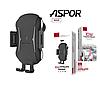 Тримач телефону + бездротова зарядка. Quick charge 2.0 Aspor A523