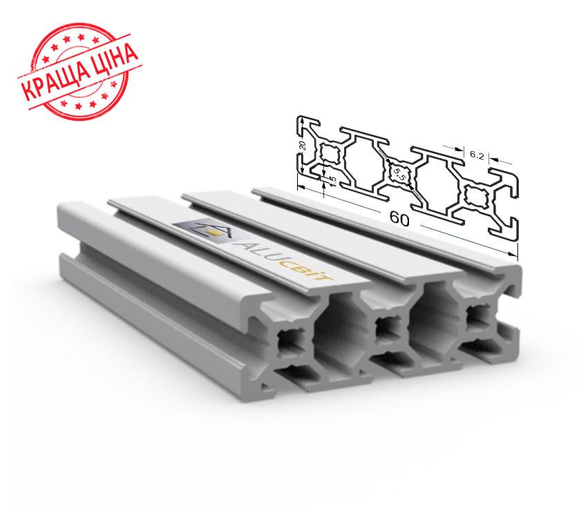Алюминиевый конструкционный станочный 60х20 без покрытия