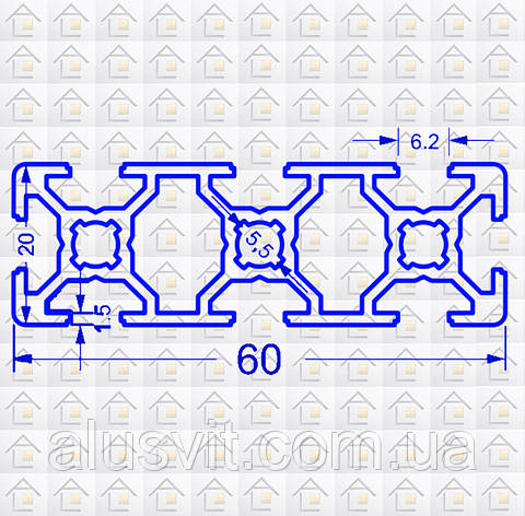 Алюминиевый конструкционный станочный 60х20 без покрытия, фото 2