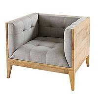 """Мягкое кресло """"Мили"""", мягкое кресло на деревянном каркасе, мягкое кресло из натурального дерева"""