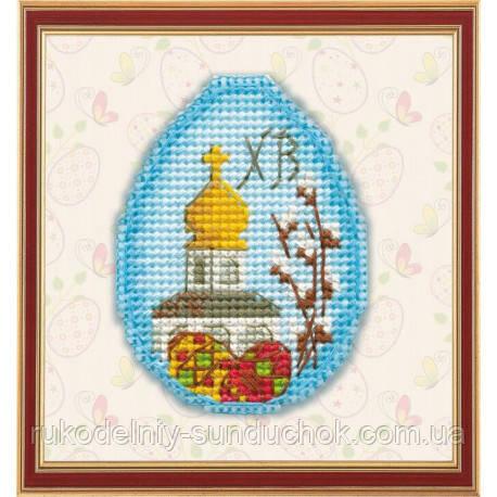 Набор для вышивки крестом на пластиковой основе ТМ Овен Пасхальный сувенир 1180