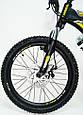 Горный алюминиевый Подростковый Велосипед S300 BLAST-БЛАСТ Диаметр колёс 20 дюймов Рама 11 Япония Shimano Желтый, фото 4