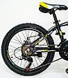 Горный алюминиевый Подростковый Велосипед S300 BLAST-БЛАСТ Диаметр колёс 20 дюймов Рама 11 Япония Shimano Желтый, фото 6