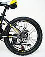 Горный алюминиевый Подростковый Велосипед S300 BLAST-БЛАСТ Диаметр колёс 20 дюймов Рама 11 Япония Shimano Желтый, фото 5