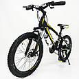Горный алюминиевый Подростковый Велосипед S300 BLAST-БЛАСТ Диаметр колёс 20 дюймов Рама 11 Япония Shimano Желтый, фото 8