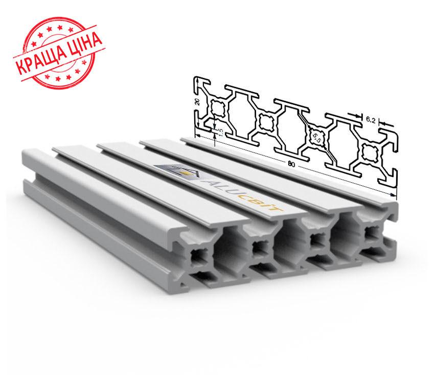 Алюминиевый конструкционный станочный 80х20 без покрытия